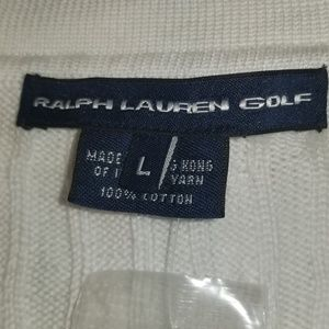 Ralph Lauren Sweaters - NWT Ralph Lauren Golf White Large Cotton Sweater